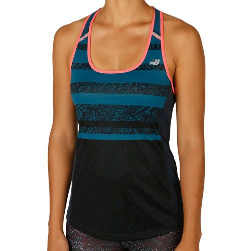New Balance Ice Tank Top Women - Dark Blue, Orange