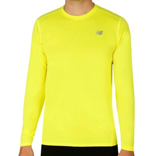 New Balance Accelerate Long Sleeve Men - Yellow