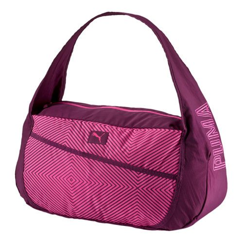 Puma Studio Barrel Sports Bag - Dark Red, Pink