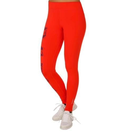 Reebok Painted Tight Training Pants Women - Red