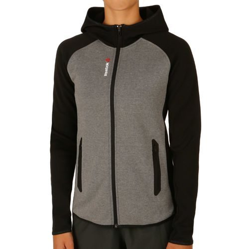 Reebok Quik Cotton Full-Zip Training Jacket Women - Dark Grey