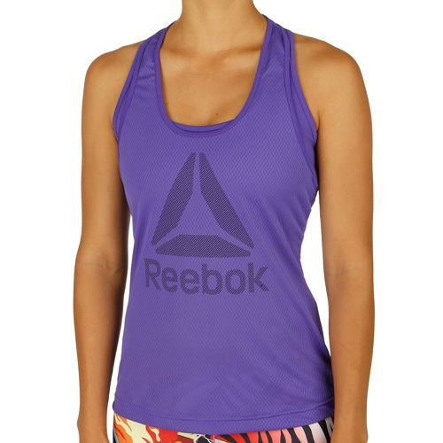Reebok Work Out Ready Big Logo Mesh Tank Top Women - Violet