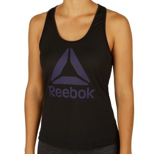 Reebok Work Out Ready Big Logo Mesh Tank Top Women - Black
