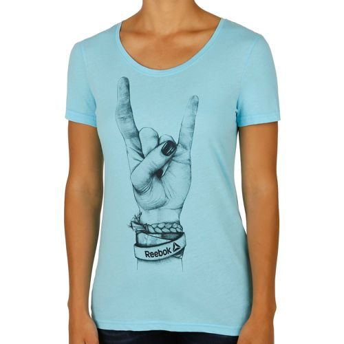 Reebok Rock Und Roll Chick T-Shirt Women - Light Blue