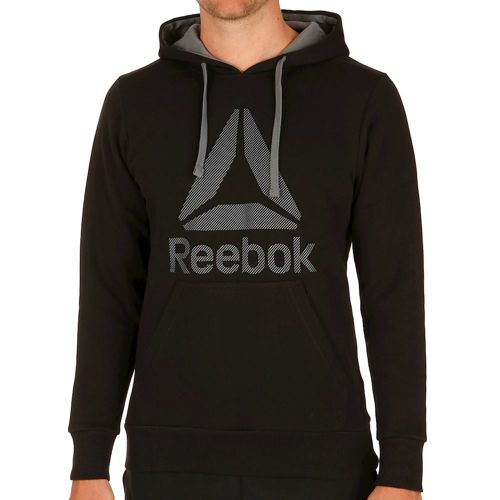 Reebok Workout Ready Big Logo Cotton Poly Hoody Men - Black