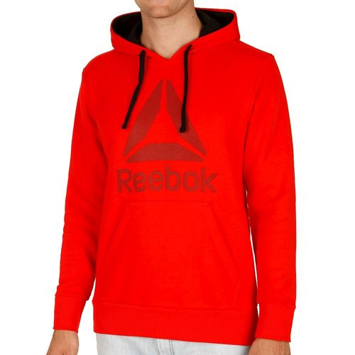 Reebok Workout Ready Big Logo Cotton Poly Hoody Men - Red