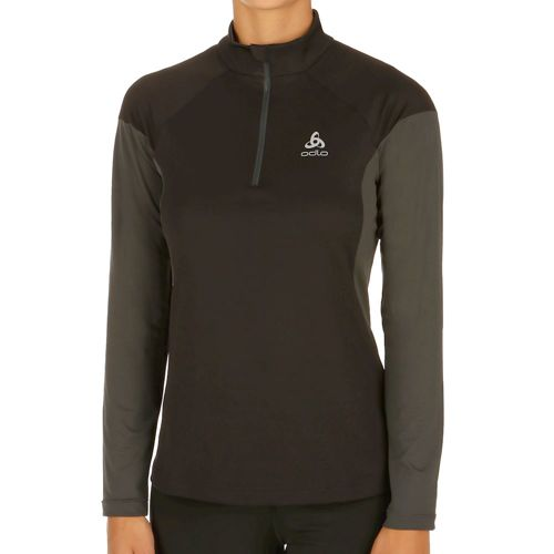 Odlo Versilia Midlayer 1/2 Zip Long Sleeve Women - Black, Grey