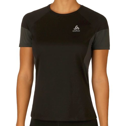 Odlo Versilia Short Sleeve Women - Black, Grey