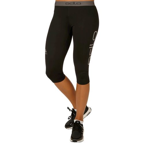 Odlo Sliq 2.0 3/4 Running Pants Women - Black, Silver