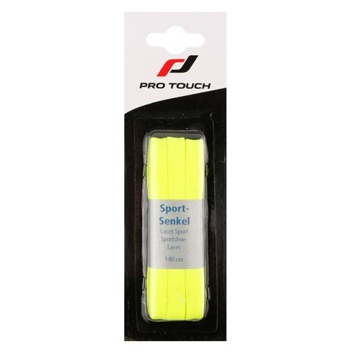 Pro Touch Shoelaces 140cm Flat - Neon Yellow