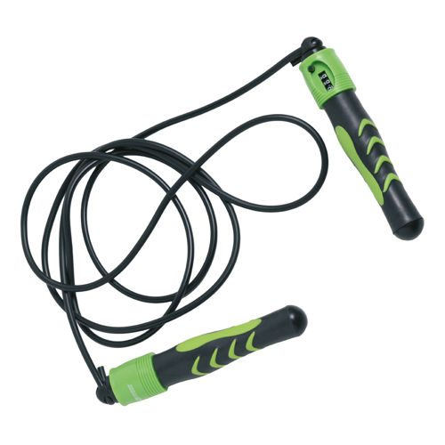 Schildkröt Fitness Skipping Rope With Counter - Green, Black