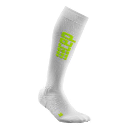 CEP Run Ultralight Compression Socks Men - White, Neon Green