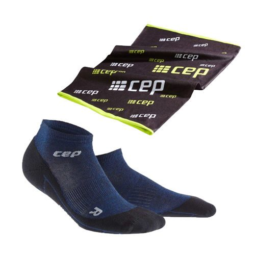 CEP Merino Low Cut Sports Socks Plus Gratisartikel Women - Dark Blue, Black