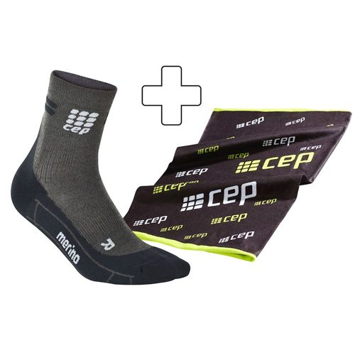 CEP Run Merino Short Sports Socks Plus Gratisartikel Women - Anthracite, Black