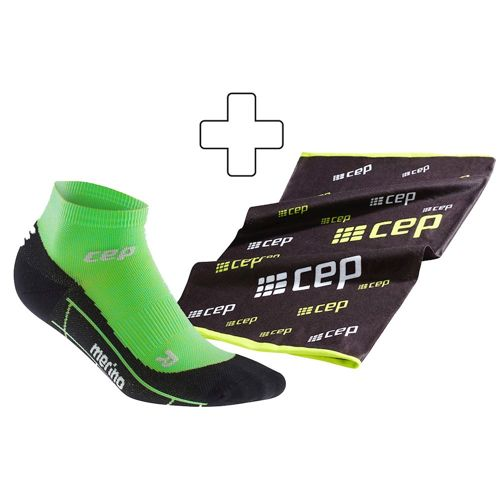 CEP Merino Low Cut Sports Socks Plus Gratisartikel Men - Light Green, Black