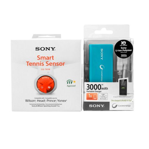Sony Smart Tennis Sensor + Portable Charger Accessories - Orange