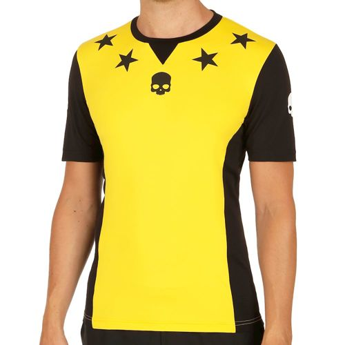 Hydrogen Stars Tech T-Shirt Men - Yellow, Black