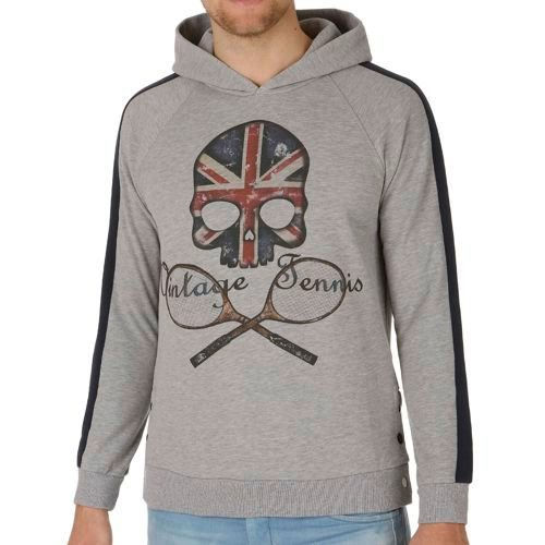 Hydrogen Vintage Flag UK Hoody Men - Grey
