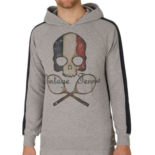 Hydrogen Vintage Flag France Hoody Men - Grey