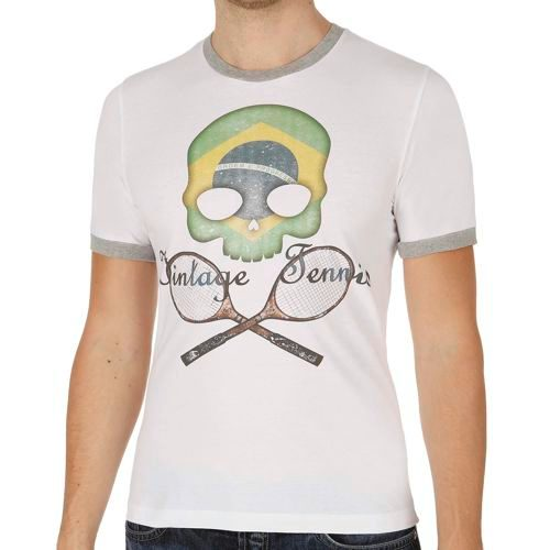 Hydrogen Vintage Flag Brazil T-Shirt Men - White