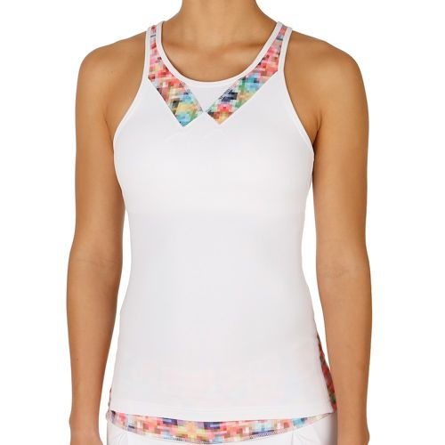 Tonic Lucid Tank Top Women - White, Orange