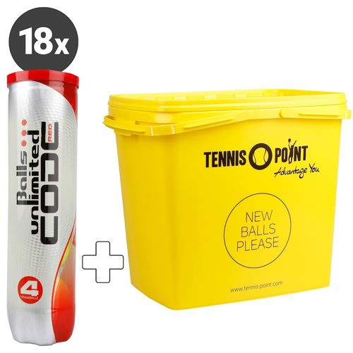 Balls Unlimited Code Red 18x 4 Ball Tube Plus Ball Bucket