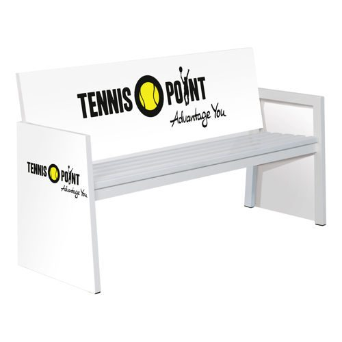 Universal Sport Grand Slam Alu Tennis Bench 1,5m - White
