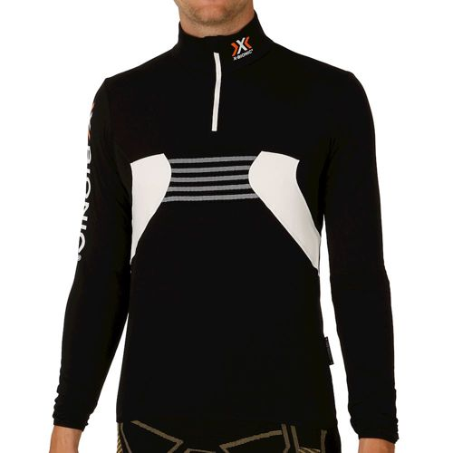 X-Bionic Ski Raccoon OW 2nd Layer Zip Up Hoody Men - Black, White