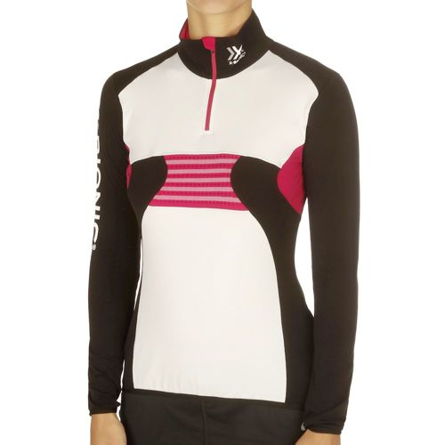 X-Bionic Ski Raccoon OW 2nd Layer Zip Up Hoody Women - Black, White