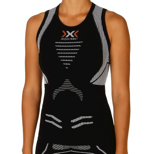 X-Bionic Bionic - The Trick Running Singlet Top Women - Black, White