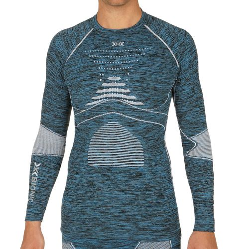 X-Bionic Acc Evo Melange Compression Long Sleeve Men - Blue, White