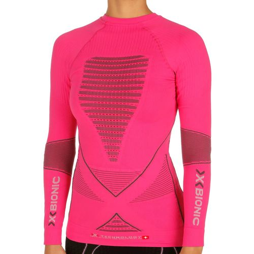 X-Bionic Acc Evo Compression Long Sleeve Women - Pink, Dark Grey