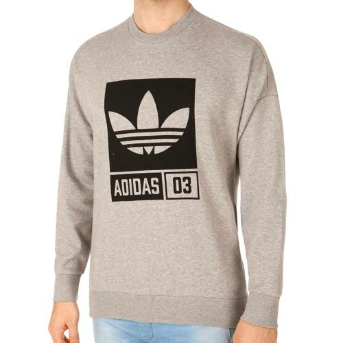 adidas Originals Street Graphic Crew Long Sleeve Men - Lightgrey, Black