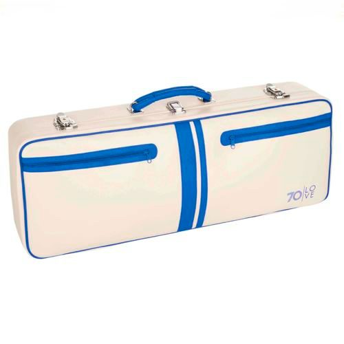 "70love Tenniscase ""Jim"" Racket Bag - White, Blue"