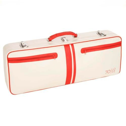 "70love Tenniscase ""Jim"" Racket Bag - White, Red"
