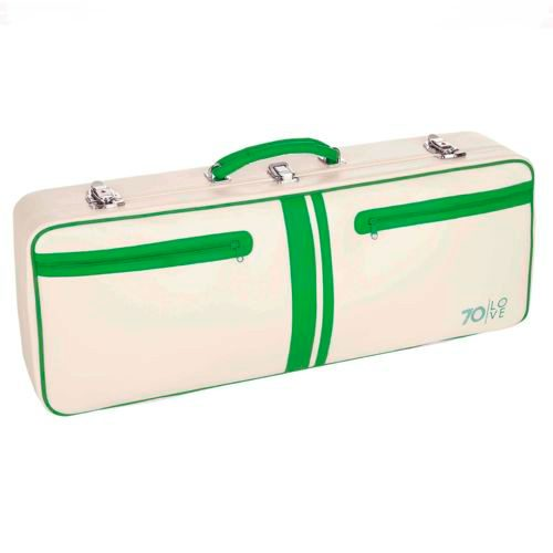 "70love Tenniscase ""Jim"" Racket Bag - White, Green"