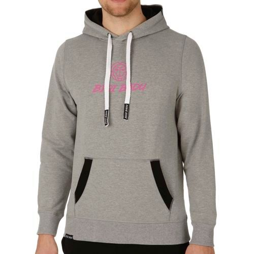 BIDI BADU Junis Basic Cotton Hoody Men - Grey