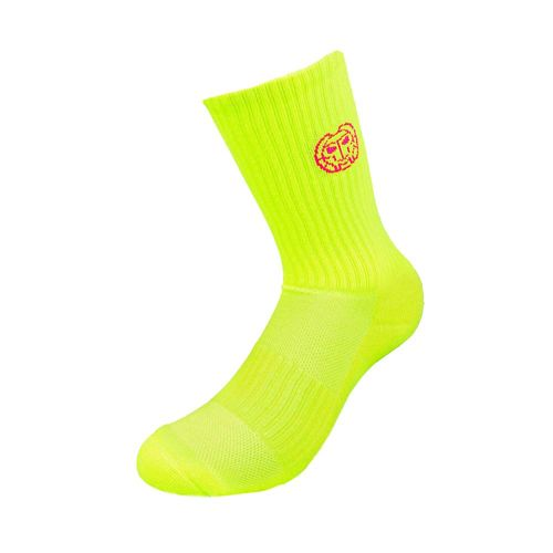 BIDI BADU Riley Crew Tech Sports Socks Men - Neon Yellow, Pink