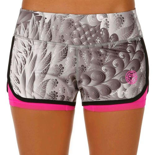 BIDI BADU Kady 2in1 Tech Shorts Women - Grey, Pink