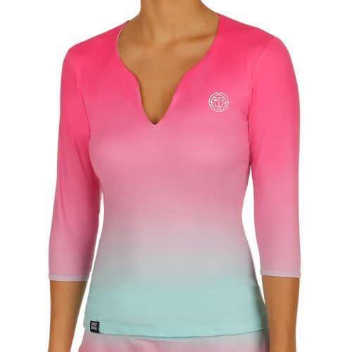 BIDI BADU Cyra Tech V-Neck Long Sleeve Women - Pink, Mint