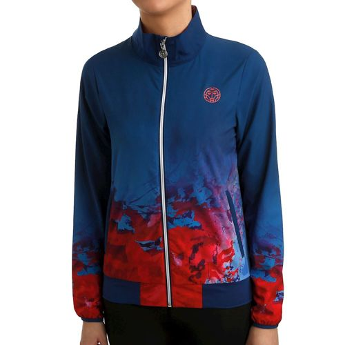 BIDI BADU Gene Tech Training Jacket Women - Dark Blue, Red